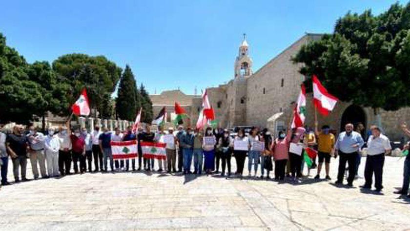 صور.. فلسطينيون ينظمون وقفة تضامنية مع لبنان في بيت لحم
