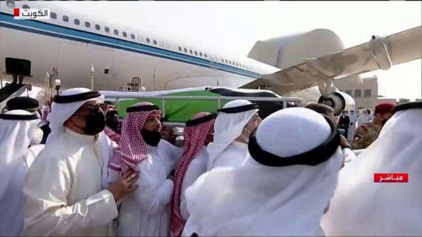 جثمان الشيخ صباح الأحمد الأمير الراحل