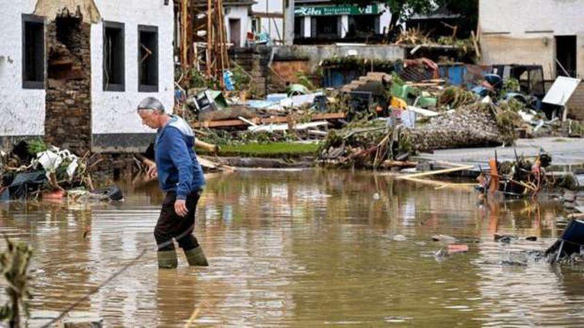 فيضانات فى بلجيكا