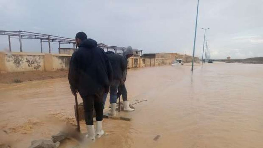 أمطار فى مرسى مطروح