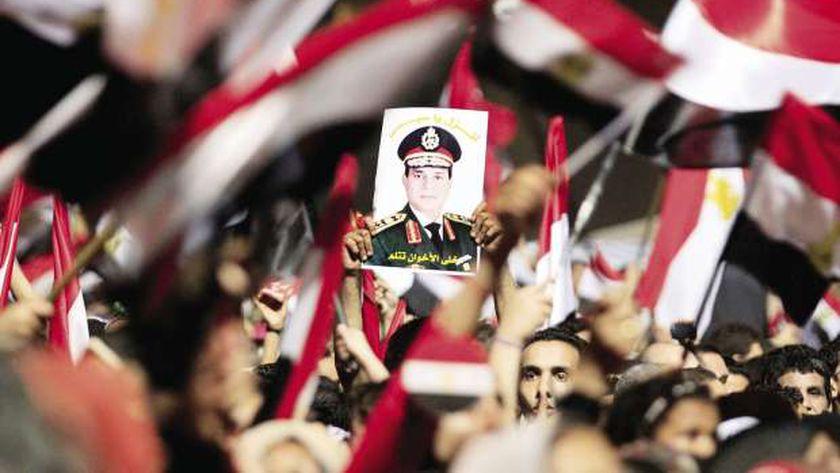 """من احتفالات المصريين بثورة 30 يونيه """"أرشيفية """""""