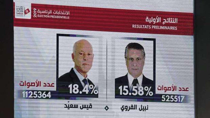 نتائج المرحلة الأولى من الانتخابات التونسية