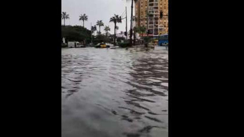 غرق شوارع الإسكندرية