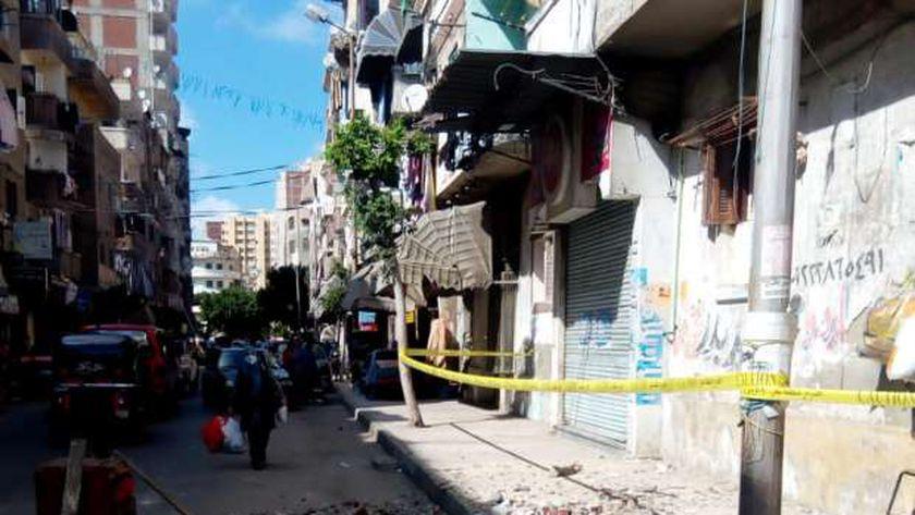انهيار عقار في الإسكندرية