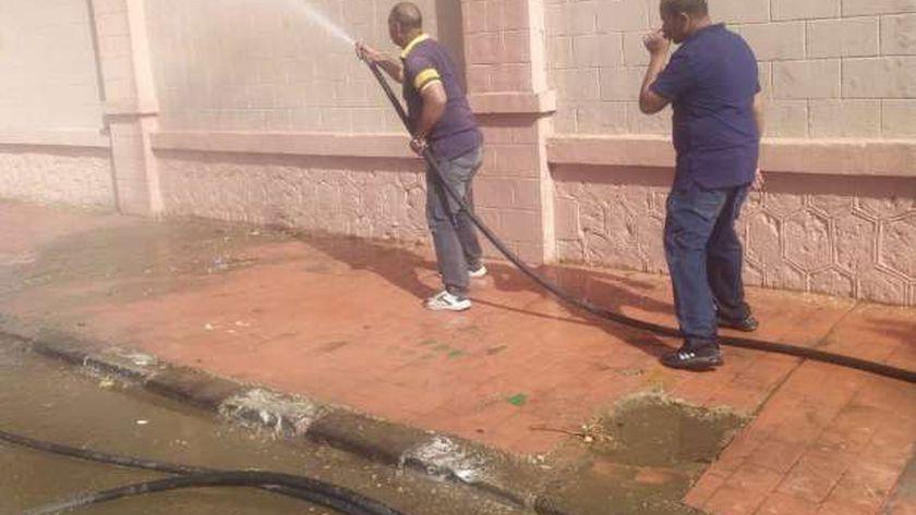 جانب من حملات النظافة