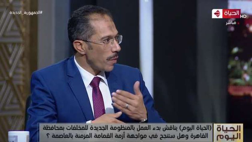الدكتور أحمد سعيد رئيس الوحدة التنفيذية للمخلفات بوزارة التنمية المحلية