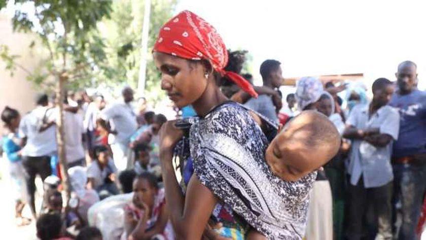 لاجئة إثيوبية فرت إلى السودان من جحيم الحرب