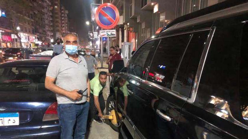 أثناء كلبشة سيارة محمد رمضان