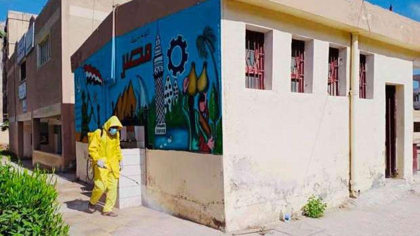 """استمرار حملات الرش والتعقيم لمواجهة"""" كورونا"""" في كفر الشيخ"""