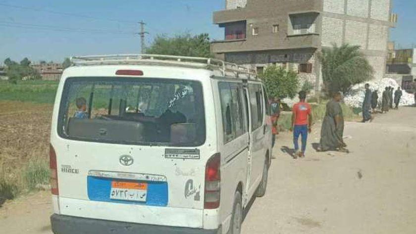 ميكروباص مذبحة أبو حزام