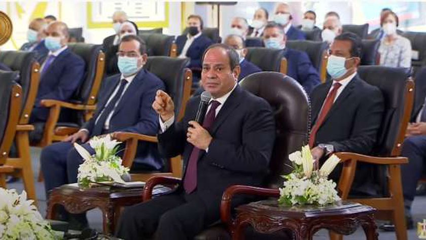 الرئيس عبدالفتاح السيسي خلال افتتاح مشروع مُجمع الوثائق المُؤمنة