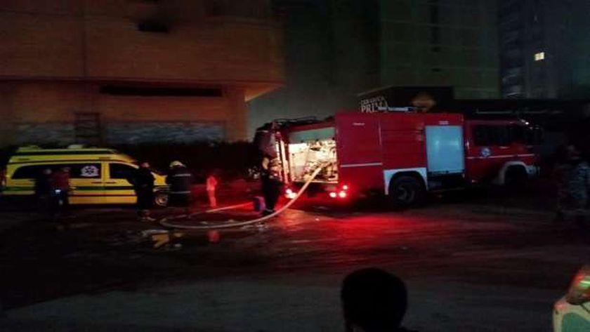 حريق في منطقة فيصل