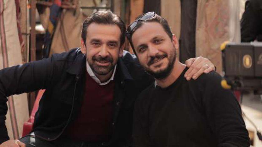 الفنان كريم عبد العزيز والمخرج بيتر ميمي