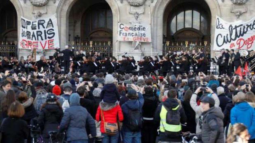 مظاهرات فى فرنسا رفضاً للشهادة الصحية