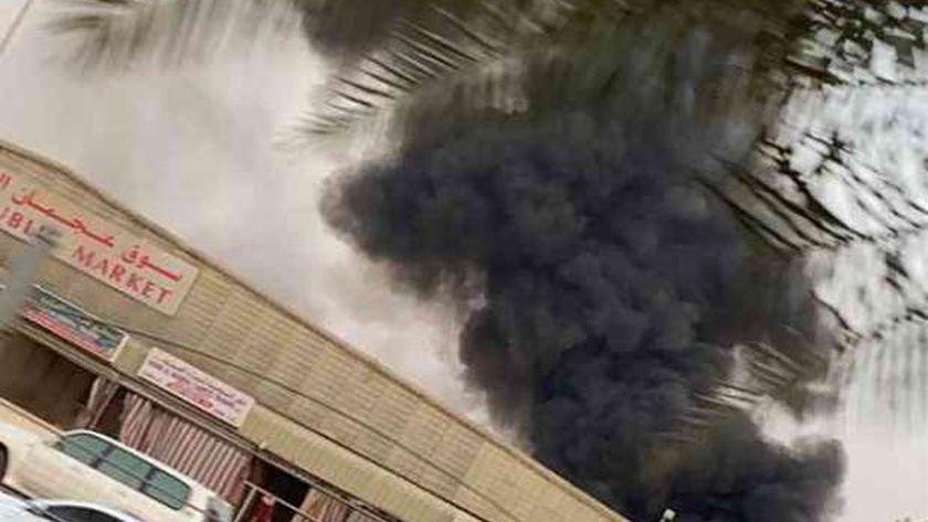 حريق بسوق إمارة عجمان