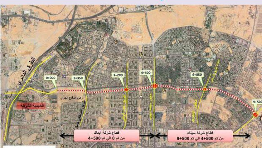 قيادات الإسكان يتفقدون مشروعات تطوير المحاور والطرق الرئيسية شرق القاهرة