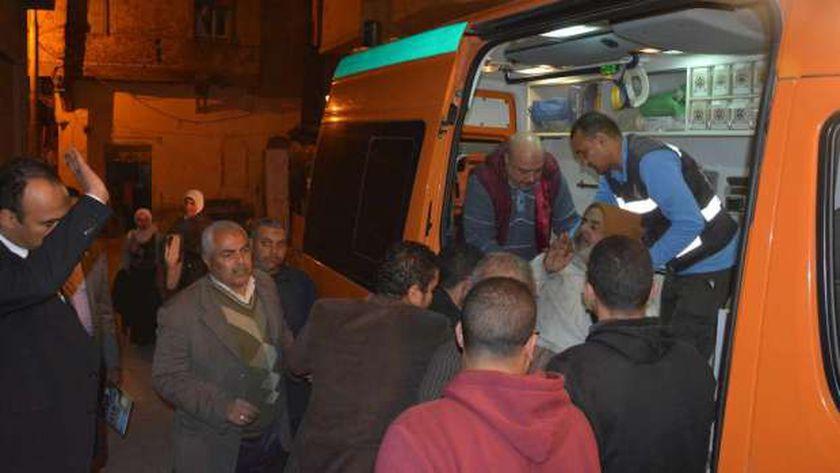 إصابة 3 أشخاص في حادث سير بسوهاج