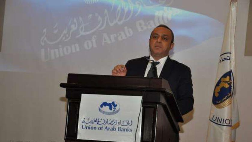 وسام فتوح خلال مؤتمر اتحاد المصارف العربية