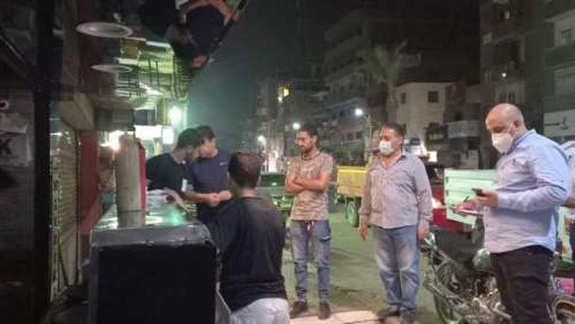 غلق وتشميع كافيه وتحرير 25 محضرا لعدم ارتداء الكمامة ببني سويف