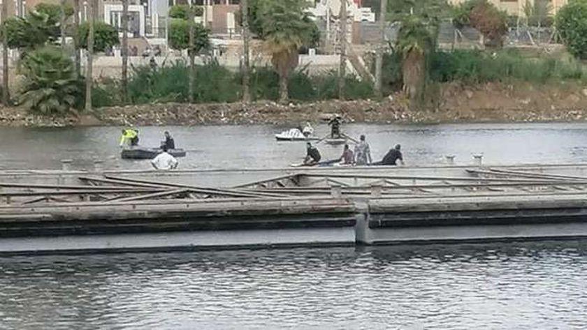 انتشال جثة شاب ألقى نفسه في النيل بالمنصورة