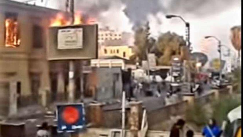 حريق مدرسة الراهبات الفرنسيسكان ببني سويف