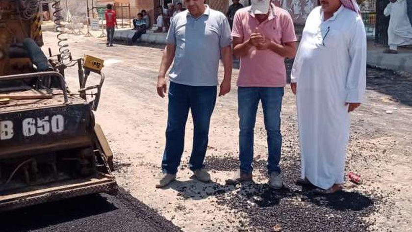 رصف طرق وسط مدينة الضبعة
