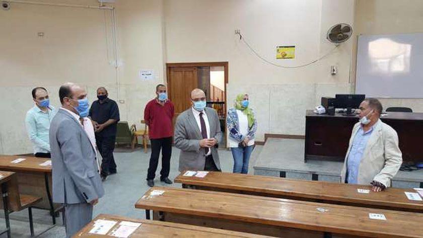 استعدادات جامعة المنصورة للإمتحانات