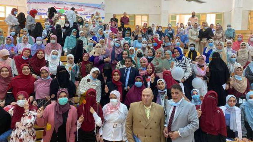 حفل استقبال طلاب كلية طب بنات الأزهر