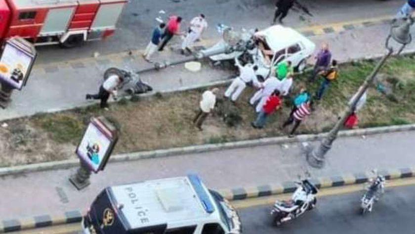 حوادث على كورنيش الإسكندرية