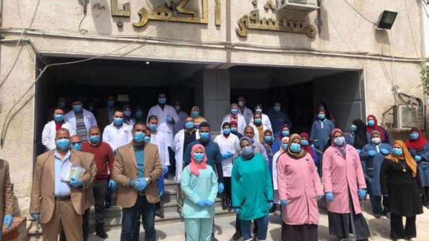 الفريق الطبي بمستشفى الكهرباء بالإسماعيلية
