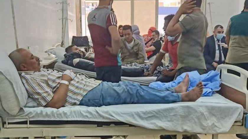 مصابين حادث قطار الإسكندرية