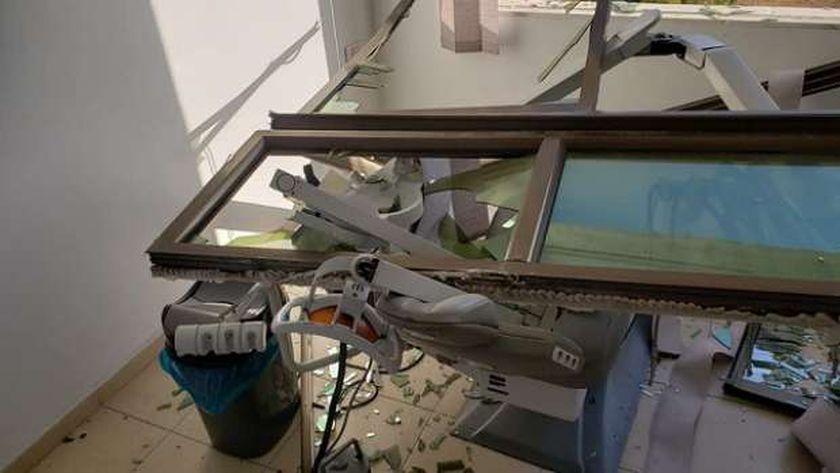 عيادة الطبيب الفلسطيني التي تدمرت بسبب قصف الاحتلال
