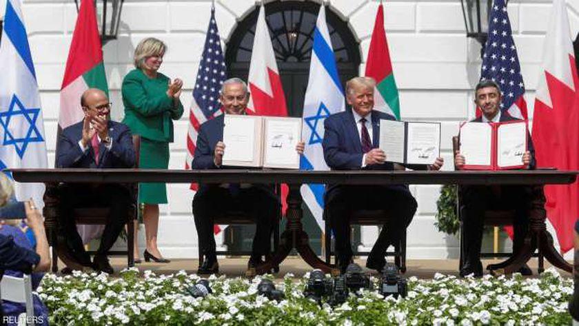 توقيع اتفاق السلام بين إسرائيل والإمارات والبحرين في البيت الأبيض