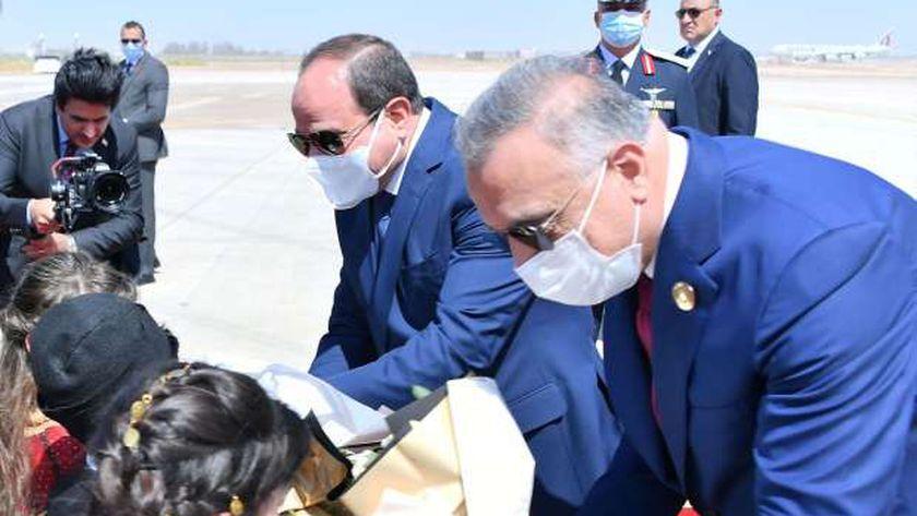 الرئيس السيسي خلال مشاركته في قمة بغداد