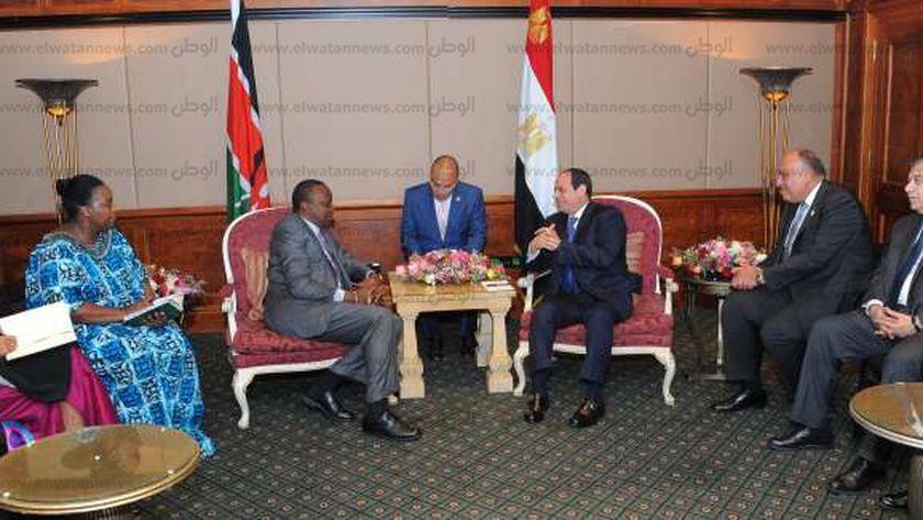 الرئيس عبد الفتاح السيسي مع نظيره الكونغو برازافيل