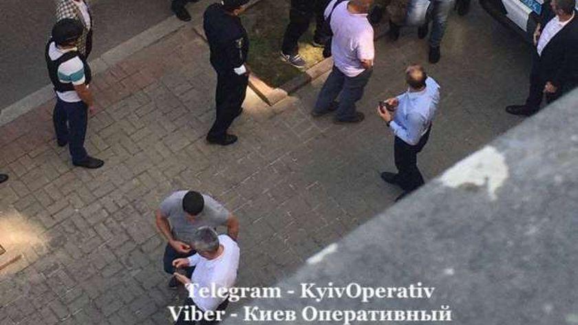 لحظة القبض على العسكري الأوكراني السابق