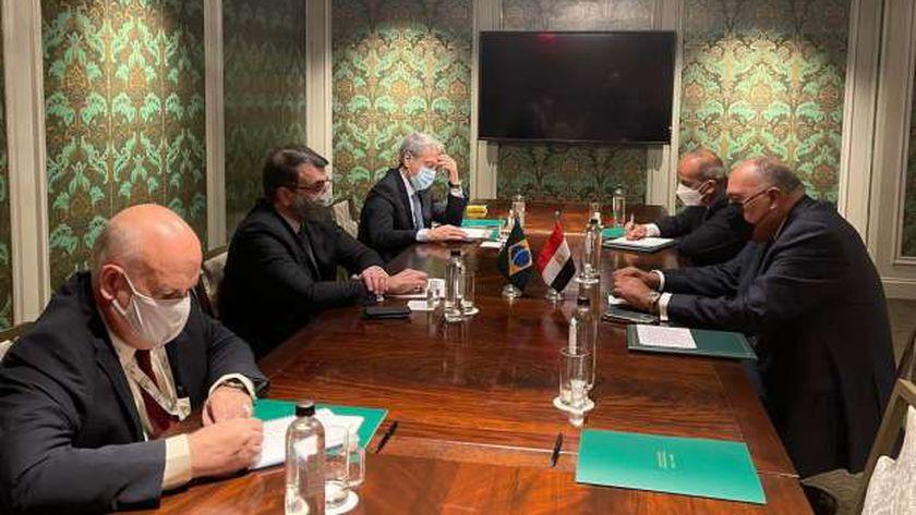 لقاء سامح شكري وزير الخارجية مع نظيره البرازيلي