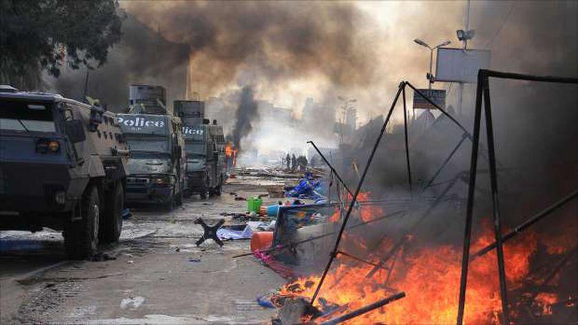 جانب من فض اعتصام رابعة