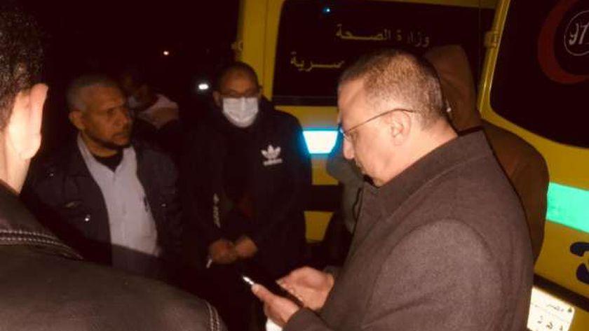 متابعات محافظ الإسكندرية لحادث الغرق