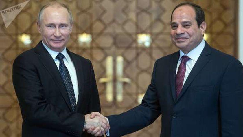الرئيس عبد الفتاح السيسي والرئيس الروسي فلاديمير بوتين