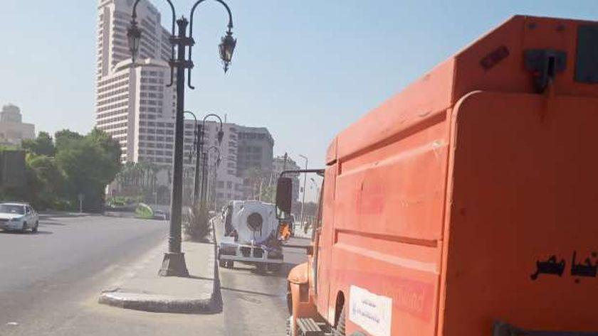 أعمال النظافة بشوارع القاهرة