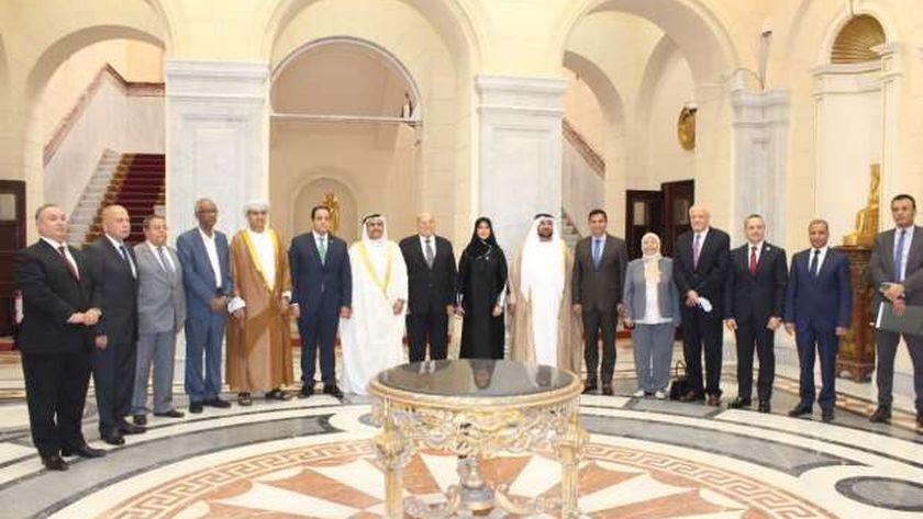 رئيس البرلمان العربي يزور مجلسي الشيوخ والنواب