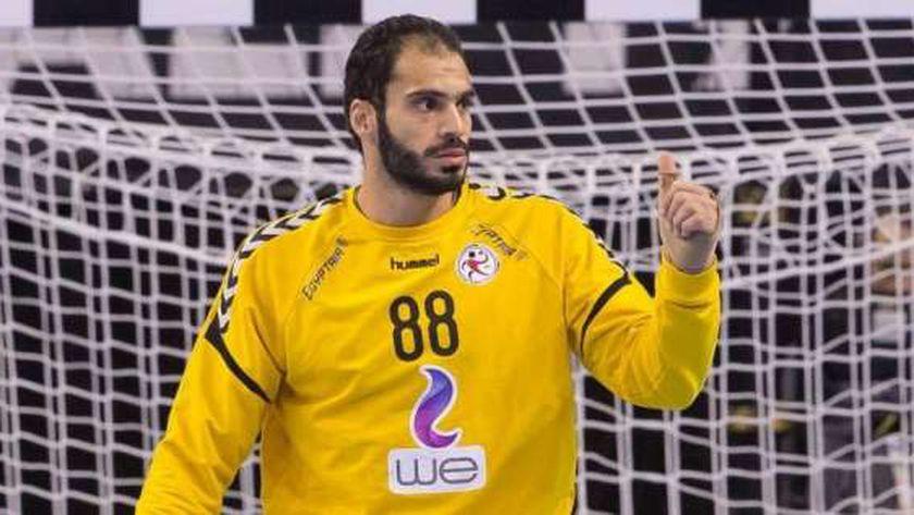 كريم هنداوي حارس منتخب مصر لكرة اليد