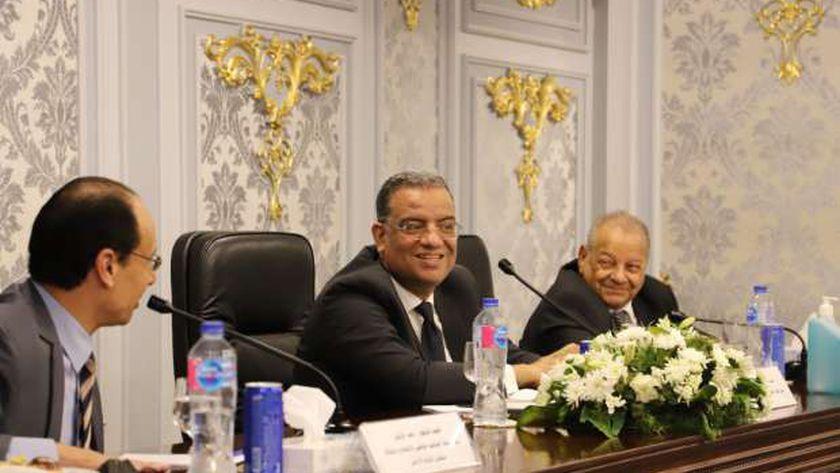 مسلم خلال لقاء وفد لجنة التوجيه الوطني والإعلام بالنواب الأردني