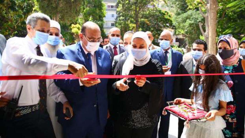 القباج خلال افتتاحها معهد التدريب والبحوث للصحة الإنجابية التابع للجمعية المصرية لتنظيم الأسرة