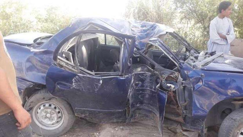 إصابة 3 اشخاص في تصادم بسوهاج