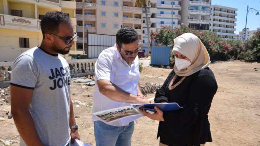 دينا عثمان نائب محافظ مطروح تتابع إقامة مركز رعاية أطفال شديدى التوحد