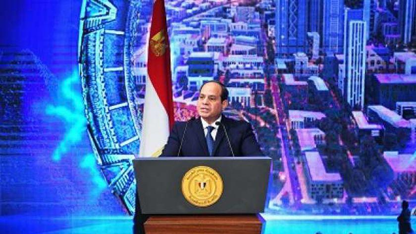 الرئيس عبدالفتاح السيسى خلال كلمته بافتتاح المؤتمر القومى للبحث العلمى