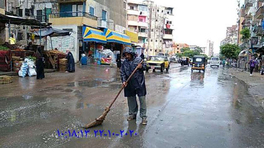 أمطار كثيفة في غرب الإسكندرية
