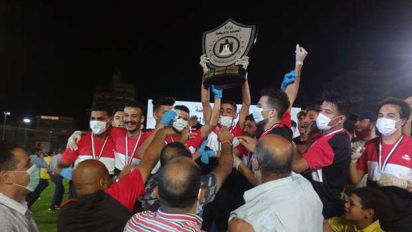 فرحة فريق مركز شباب شبرا نبات بطل دوري النسخة السابعة